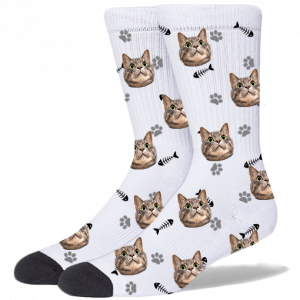 Custom Cat Socks | facecustomsocks.com