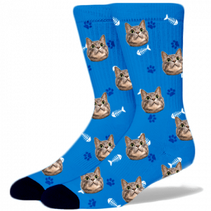 cat face socks | facecustomsocks.com